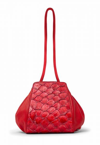 Gretchen - Zeitgeist Tango Small Shoulderbag - Poppy Red Pirarrucu