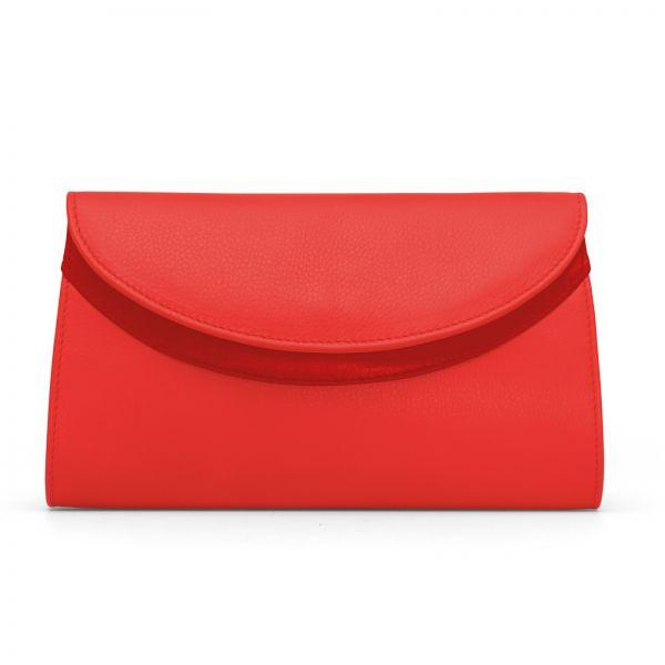 Gretchen - Ebony Clutch - Pepper Red