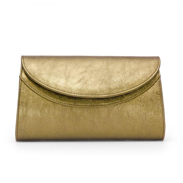 Gretchen - Ebony Clutch - Platinum Gold