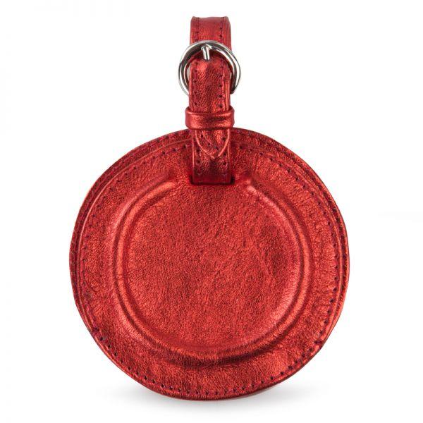 Gretchen - Tango Luggage Tag - Fire Red Metalic