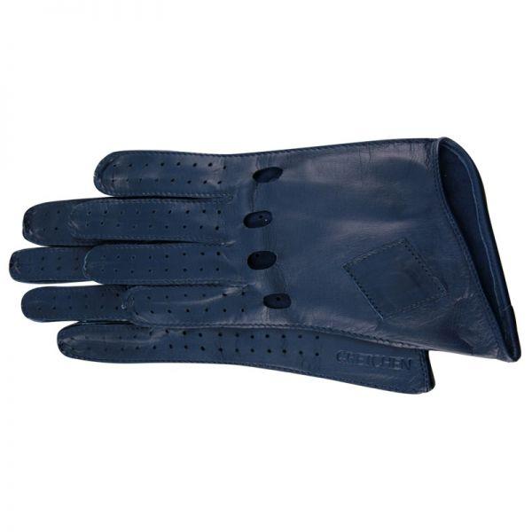 Gretchen - Long Car Gloves GL8 - Blue