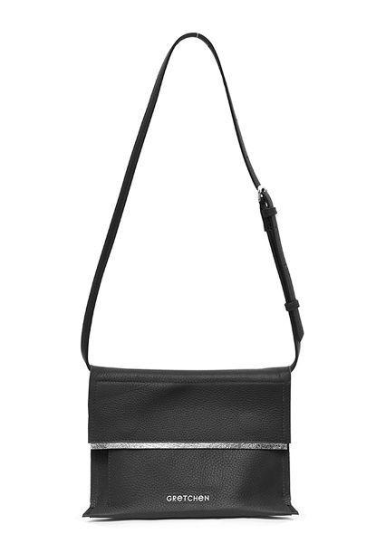 Gretchen - Opal Bum Bag - Piano Black Silver