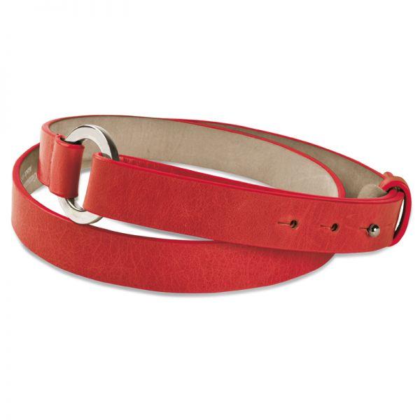 Gretchen - Loop Belt - Soft Red