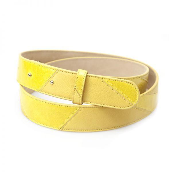 Gretchen - Linear Belt - Lemon Yellow