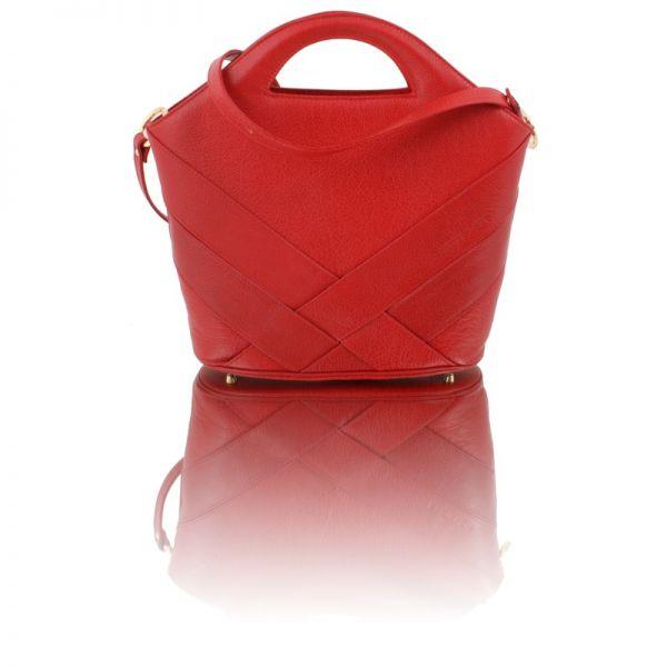 Gretchen - Swing Shopper - Lipstick Red