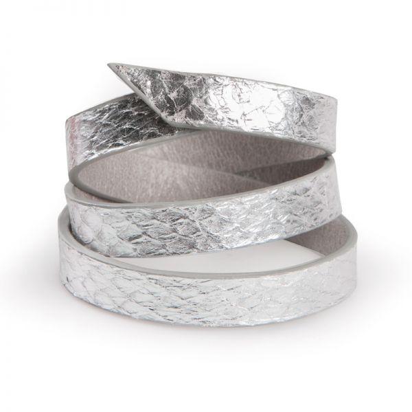 Gretchen - Triple Bracelet - Silver Salmon