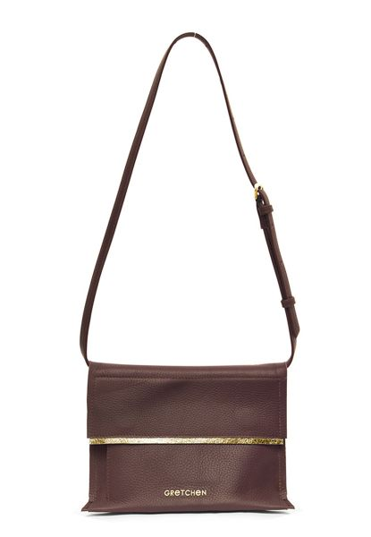 Gretchen - Opal Bum Bag - Cordovan Red Gold