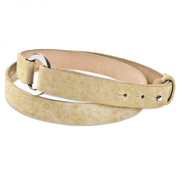 Gretchen - Loop Belt - Platinum Gold