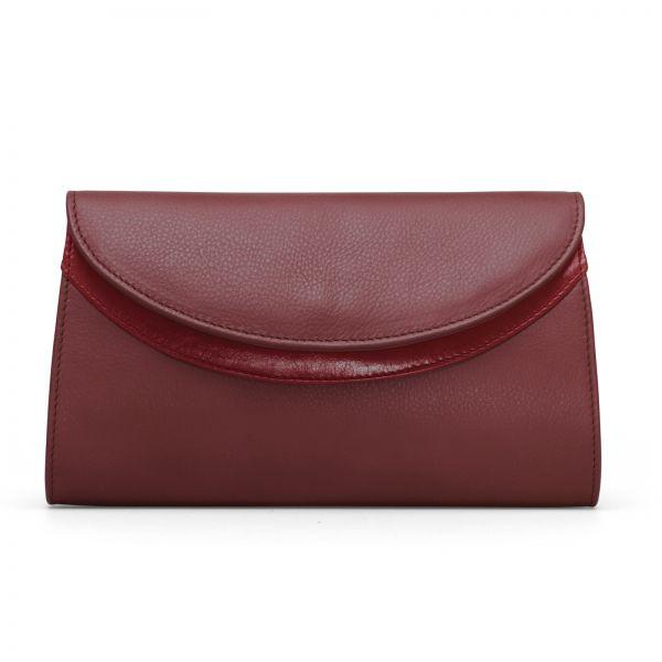Gretchen - Ebony Clutch - Oxblood Red