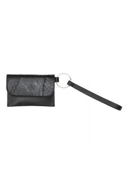 Gretchen - Envelope Keyring - Midnight Black Perch Glazed