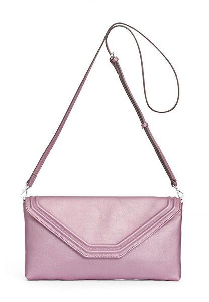 Gretchen - Coral Clutch - Lilac Blush Metallic