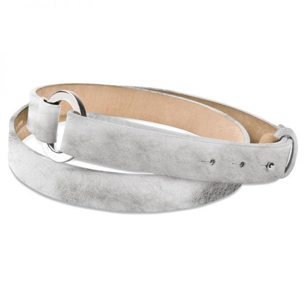 Gretchen - Loop Belt -Sparkling Silver