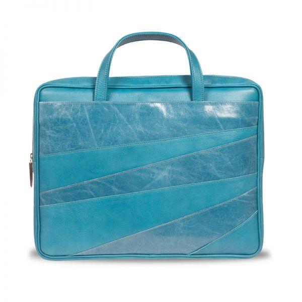 Gretchen - Linear Laptop Carrier - Aqua Blue