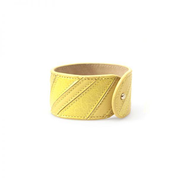 Gretchen - Linear Bracelet - Lemon Yellow