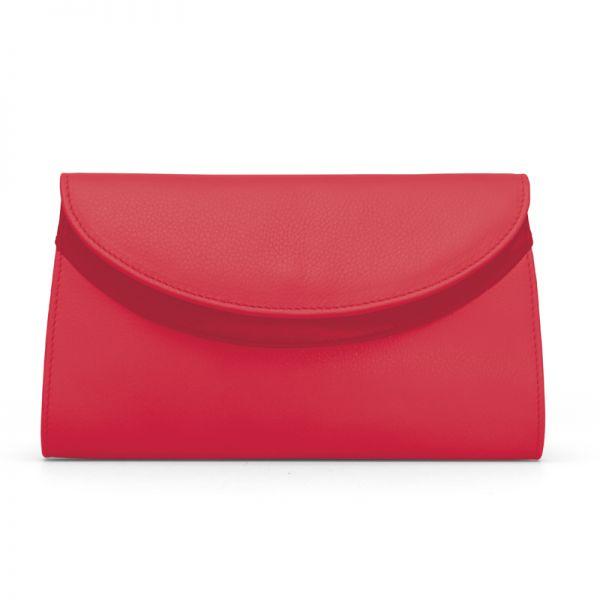 Gretchen - Ebony Clutch - Strawberry Red