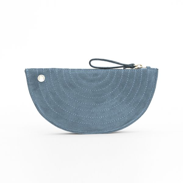 Gretchen - Melo Quilted Purse - Jeans Blue Nubuk