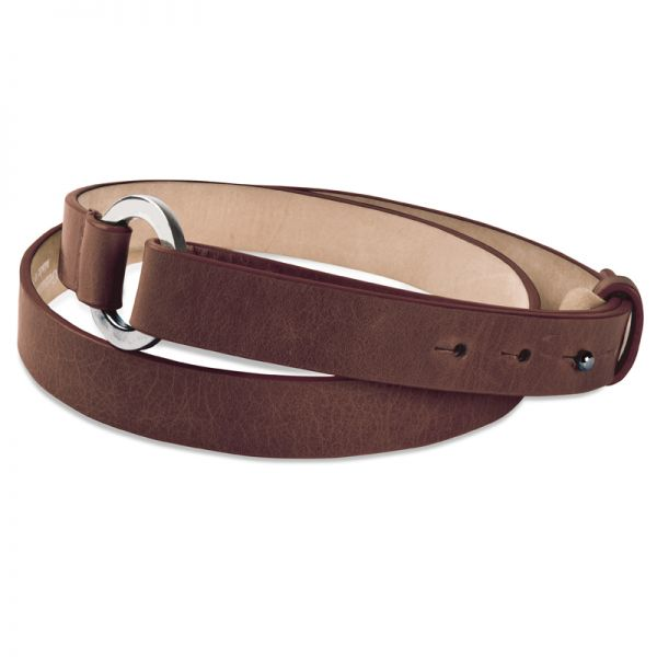Gretchen - Loop Belt - Chocolate Brown