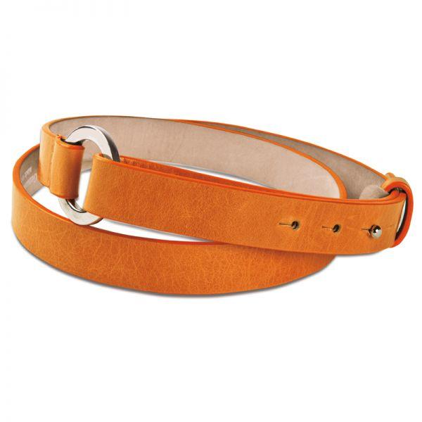 Gretchen - Loop Belt - Pumpkin Orange