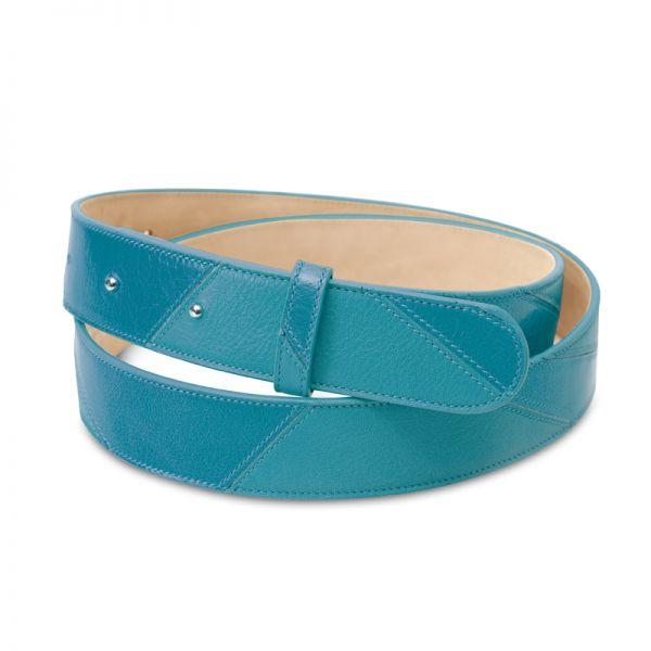 Gretchen - Linear Belt - Aqua Blue