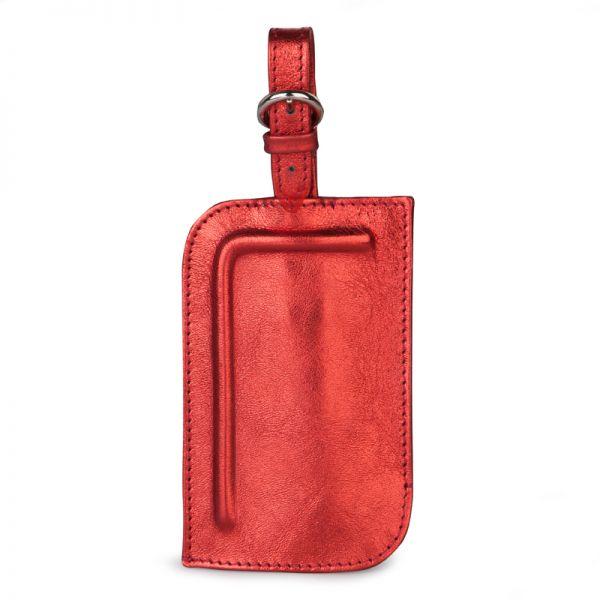 Gretchen - Tango Luggage Tag Two - Fire Red Metalic