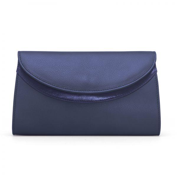 Gretchen - Ebony Clutch - Ink Blue