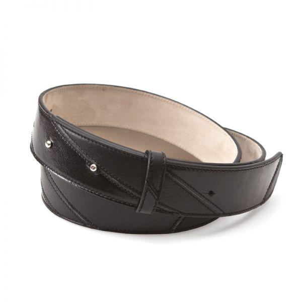 Gretchen - Linear Belt - Midnight Black