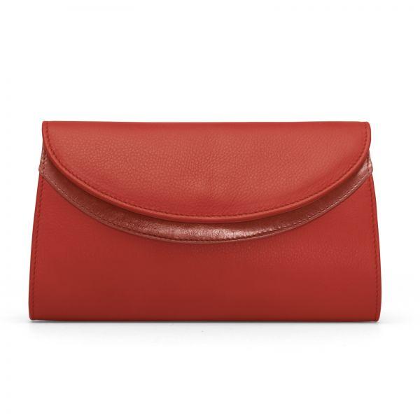 Gretchen - Ebony Clutch - Soft Red
