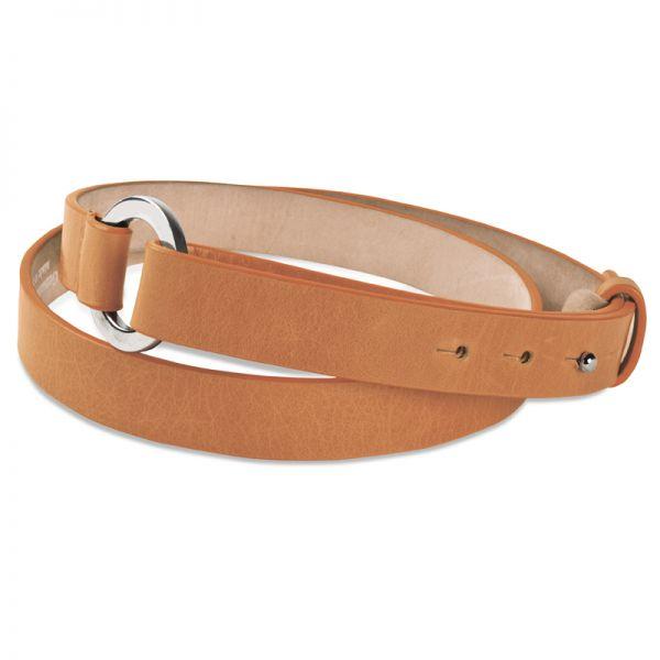 Gretchen - Loop Belt - Cognac Brown