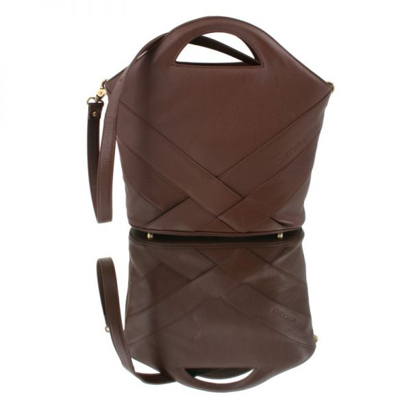Gretchen - Swing Shopper - Chocolate Brown