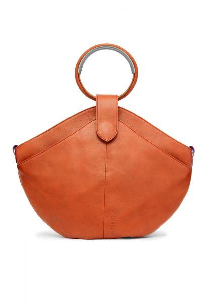Gretchen - Maple Metal Tote - Pumpkin Orange