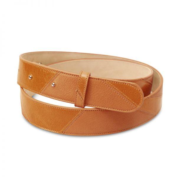 Gretchen - Linear Belt - Cognac Brown